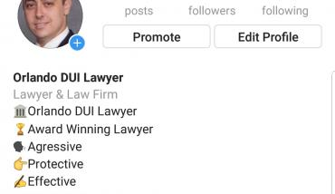 Chris Kaigle acquires Orlando DUI Lawyer Instagram